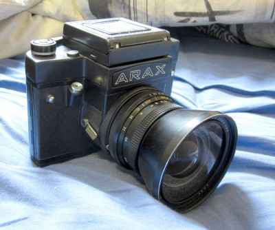 Shutter speed adjustment on a Kiev 60, 6c and