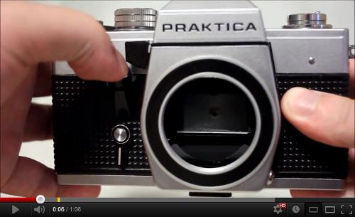 Vintage retro praktica mtl slr film camera body only with